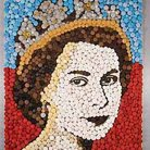 2012 cupcakes used to make a portrait of the Queen to celebrate the Diamond Jubilee!