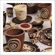 chocolate tableware