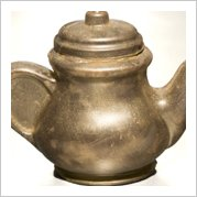Gold Teapot with solid handle