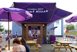 London 2012 Cadbury Treat Kioskweb